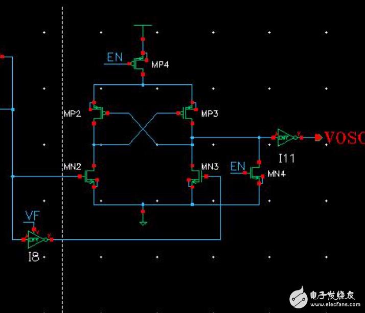 振荡电路中的电源转换电路