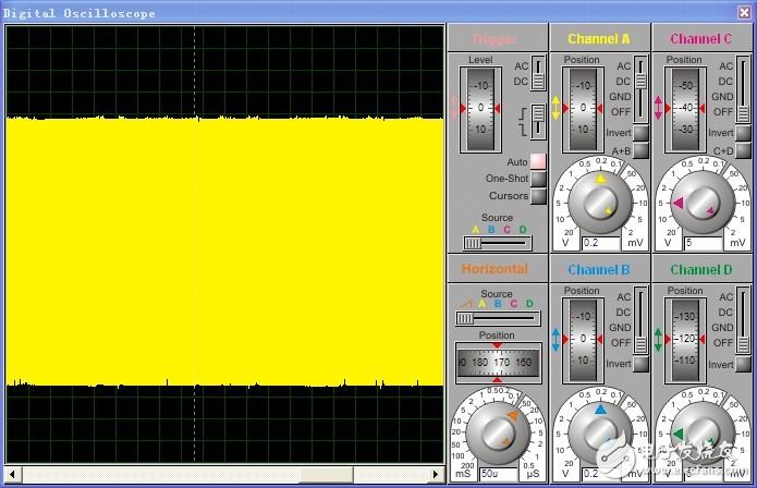 基于三极管的电容三点式 LC正弦波振荡proteus仿真图