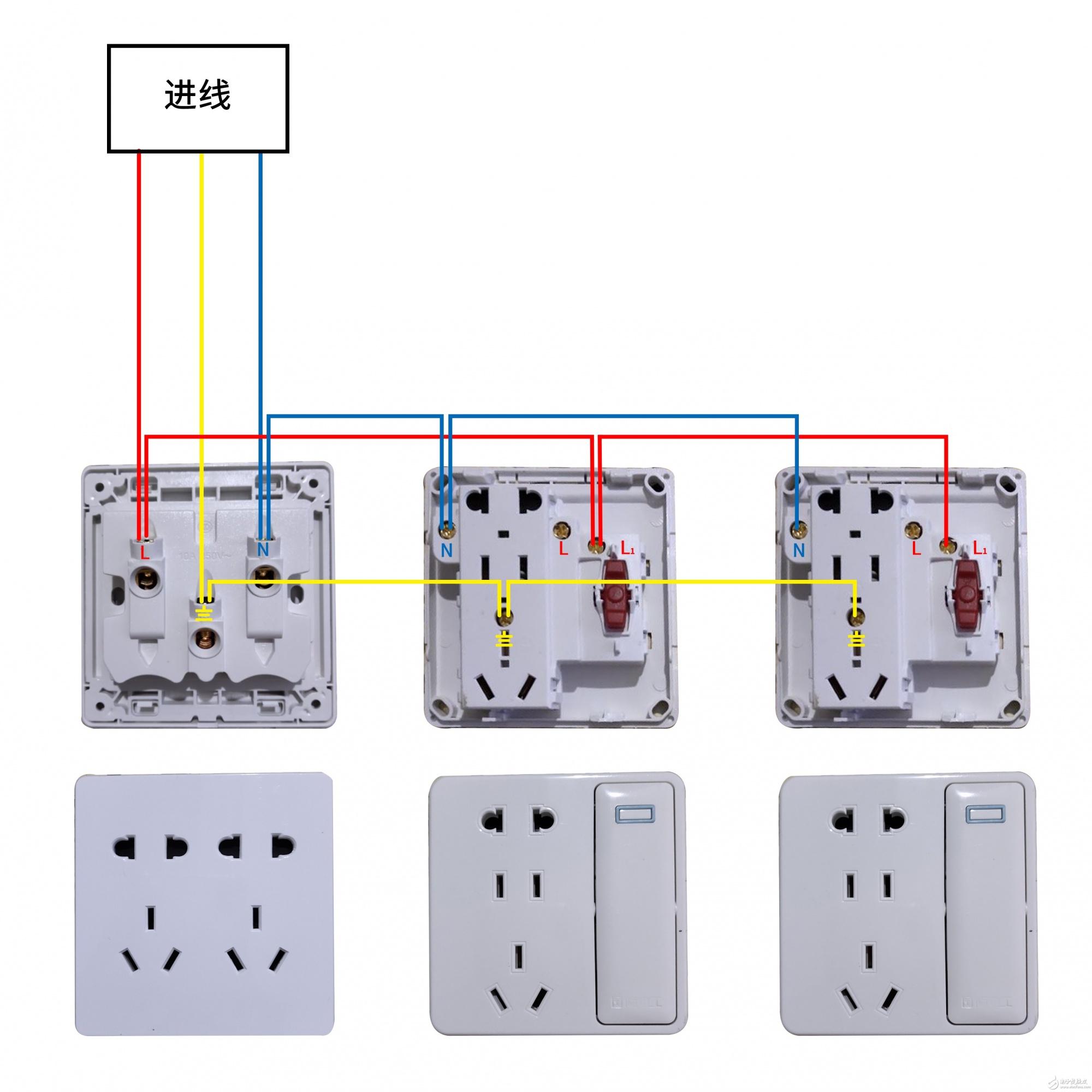 多个插座接线是否正确?每个插座能否单独控制吗?