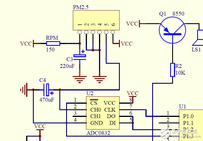 请教粉尘检测传感器模块电路问题