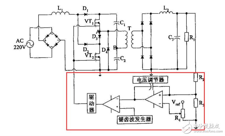 請問一下這個電路,控制部分的原理是怎么樣的?