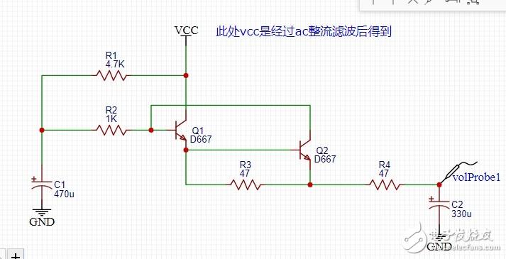 三极管倍压电路如何实现,如何调整?