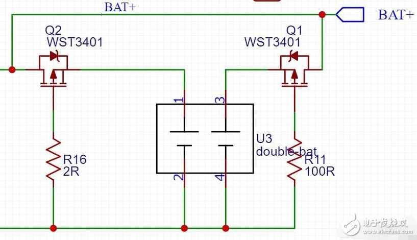 两节电池并联电路如何实现可靠的防反接效果?