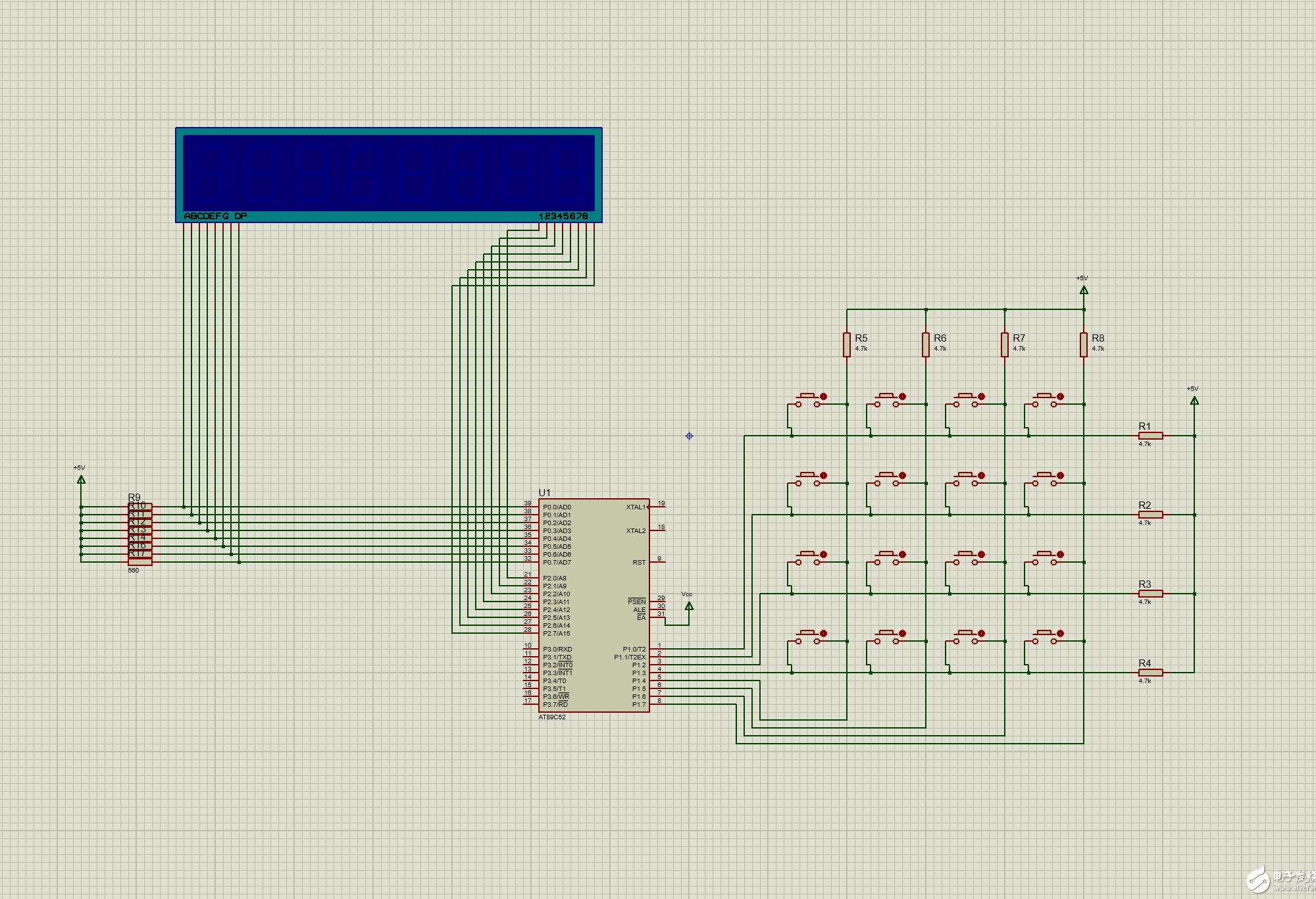 4✖️4键盘 外加 八位动态数码管显示