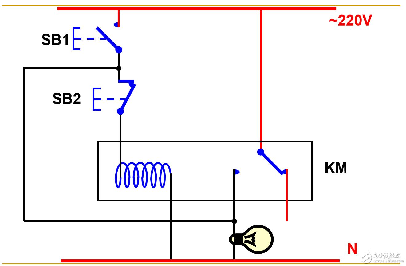 如何采用按键实现弱电对强电大功率设备的启停?