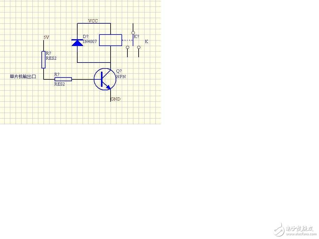 关于三极管驱动同电压负载和不同电压负载问题