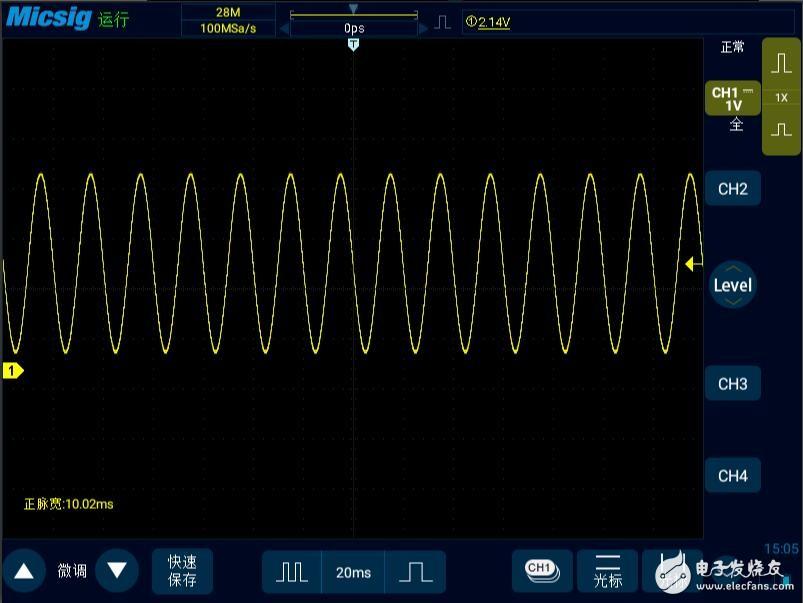 示波器测量装置防孤岛动作断电时间的方法