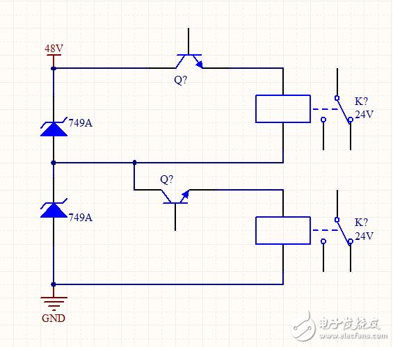 请教电路两只稳压管串联,3个点构成两个电压来使用,为何烧管子?