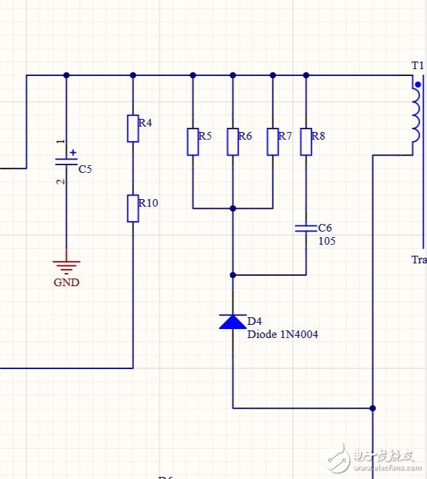 反激式开关电源中初级吸收电容为什么还要串一个电阻?