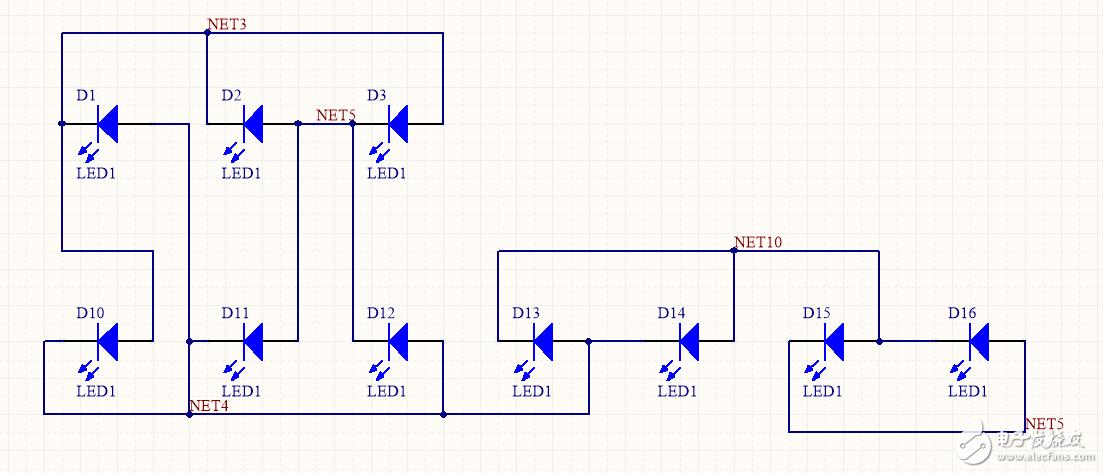 單片機用5個管腳控制10個LED的亮滅,不知道可不可以