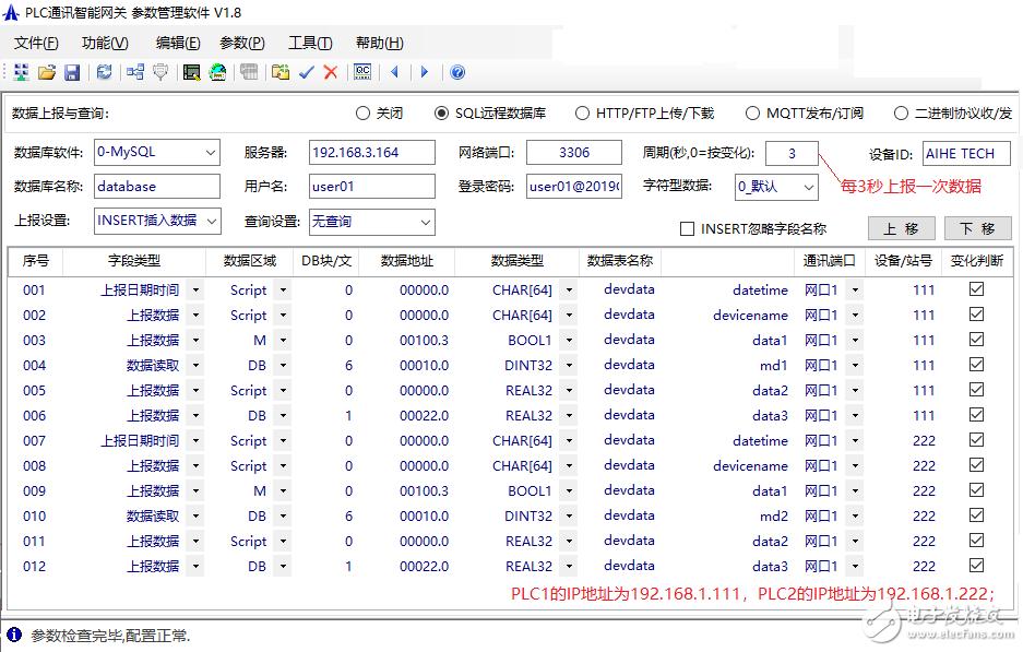 不用配电脑,PLC设备的数据也能处理后存入服务器数据库了