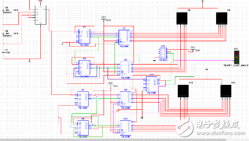 一个简易红绿灯控制电路