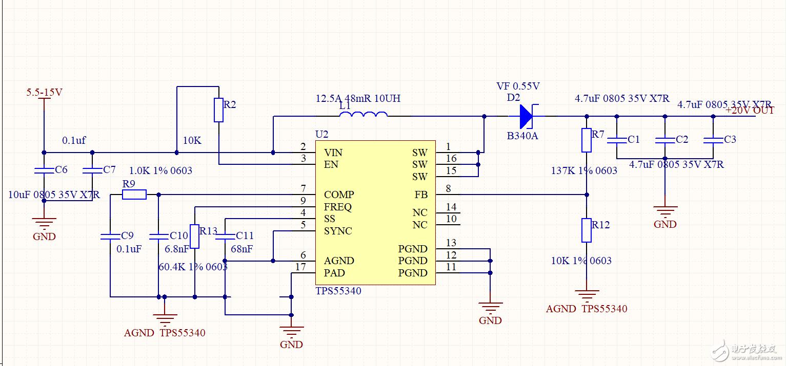 TPS55340 当输入电压6V左右时芯片不工作