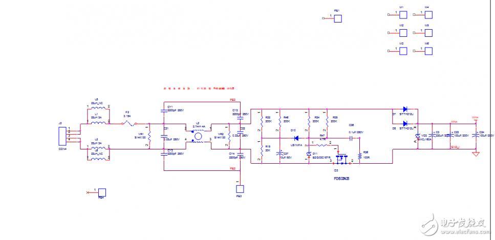 请教图中电源输入电路是如何工作的?