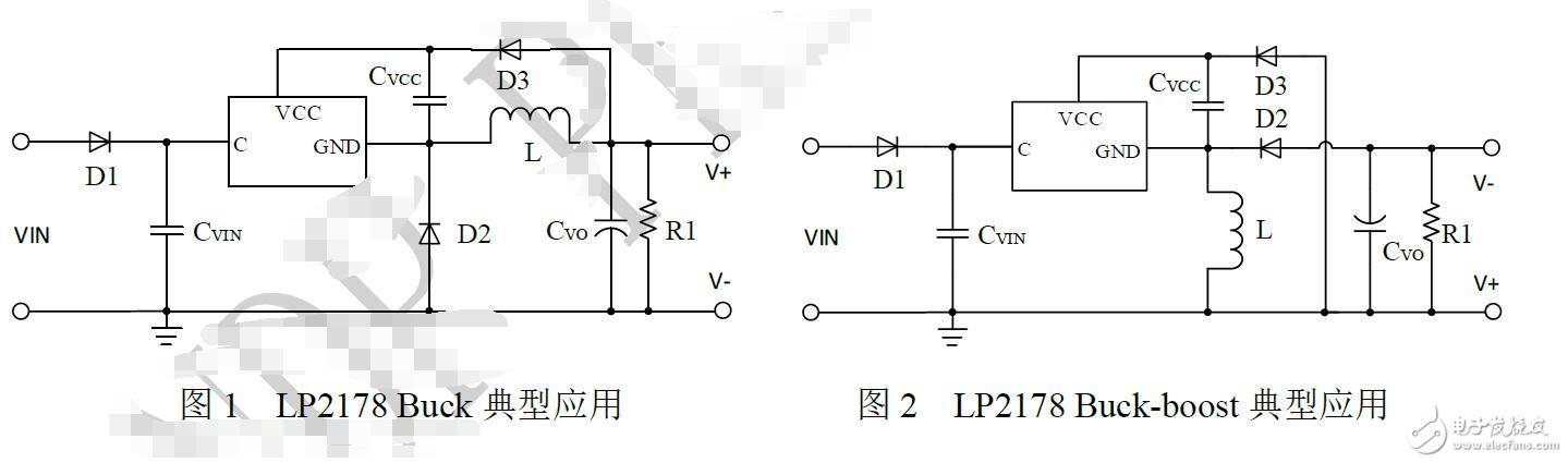 基于LP2178的典型应用电路图