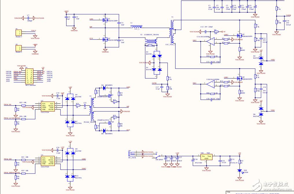 基于单片机的高效率数字电源设计资料(方案、原理图)