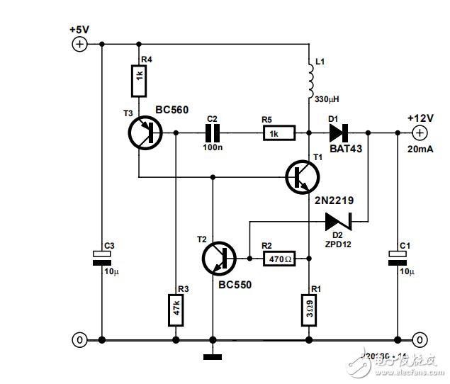 图中升压电路是怎么进行升压的