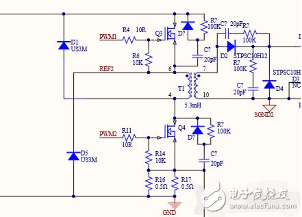 双管正激电路中加在两个MOS管两边的电阻电容和二极管有什么作用?