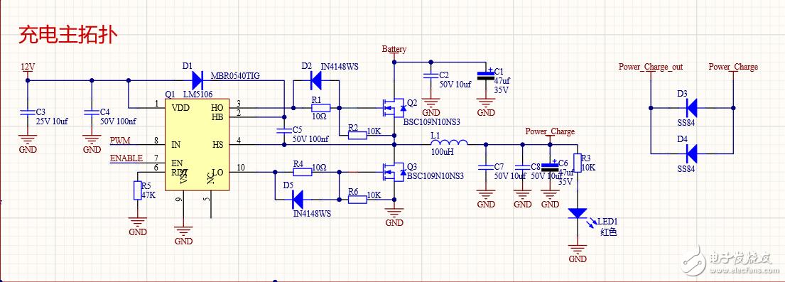 芯片lm5106上電后HO有2.7v電壓導致mosfet導通