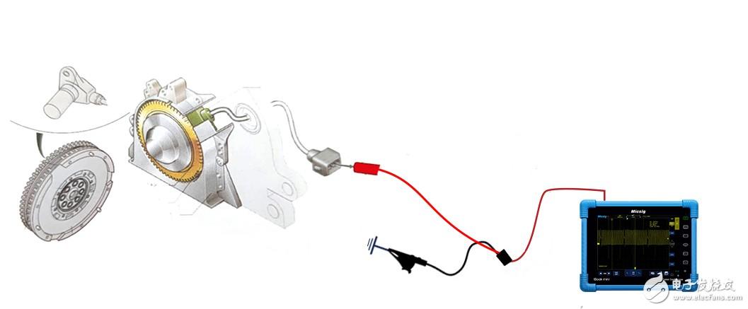 用示波器測量汽車曲軸位置傳感器信號及波形分析