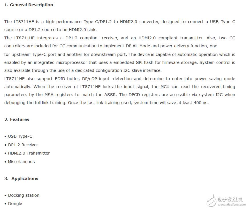 LT8711HEType-c(DP1.2)转HDMI2.0QFN64封装