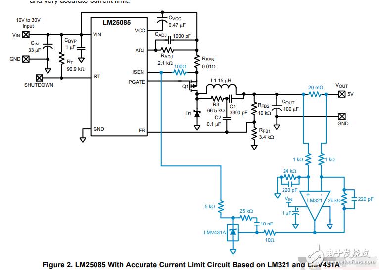 恒压恒流电源中LMV431A的作用是什么?