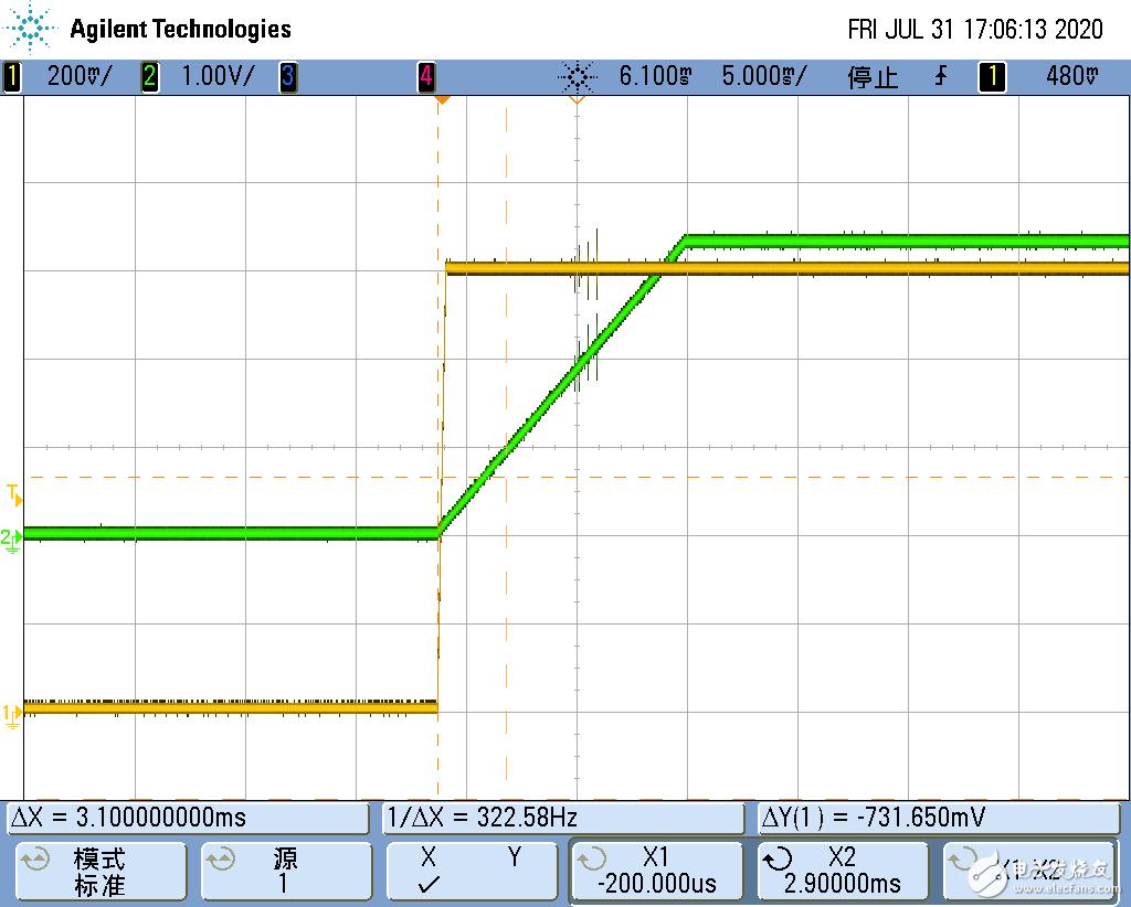 【MPS电源评估板试用体验】功能分析------MPM54304软启动延时设置和实验结果对比