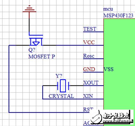 MSP430单片机中RST通过PMOS直接接到vcc是一直不复位吗?栅极直接接地的