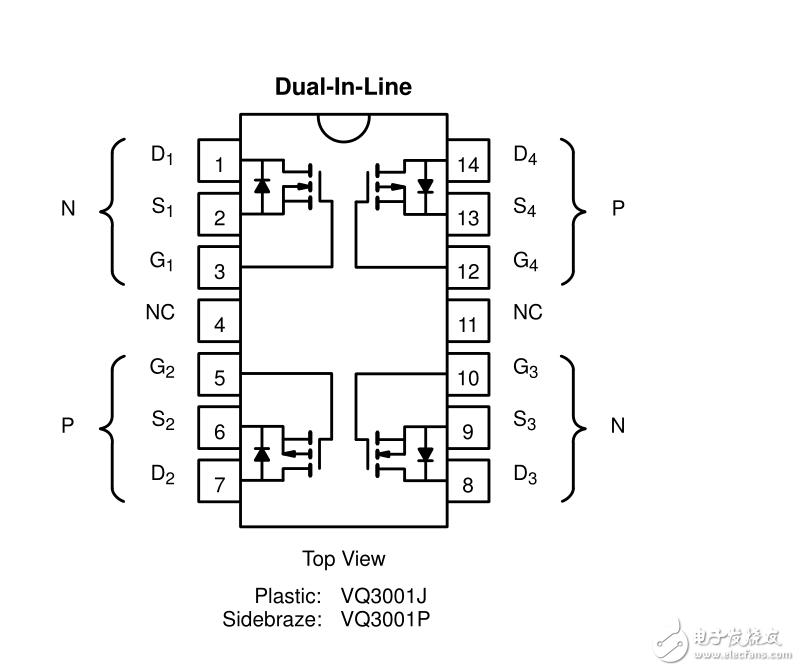 VQ3001J芯片怎么接線?