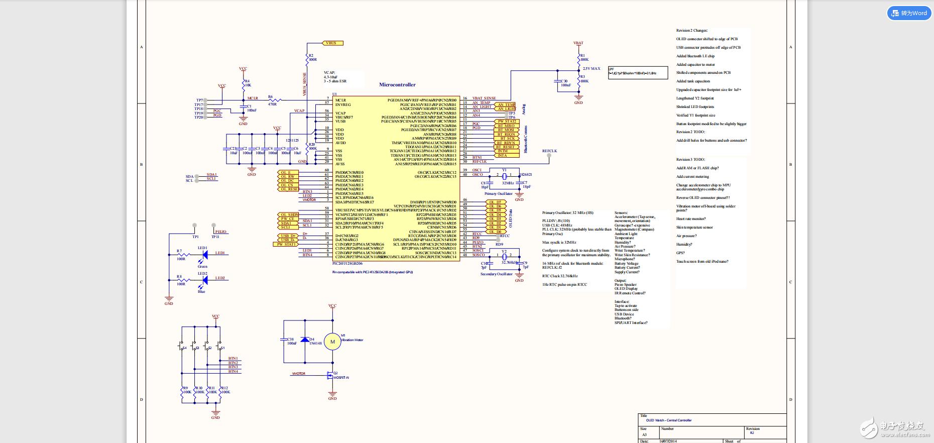 【每日精练】自己也可以DIY制作的智能手表(原理图+PCB+BOM表+代码)