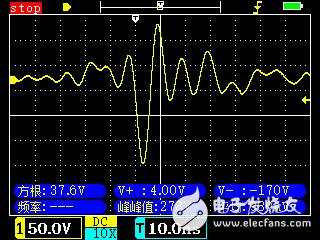 如图,直流电机启动时为什么会有一个很大的负电压脉冲?