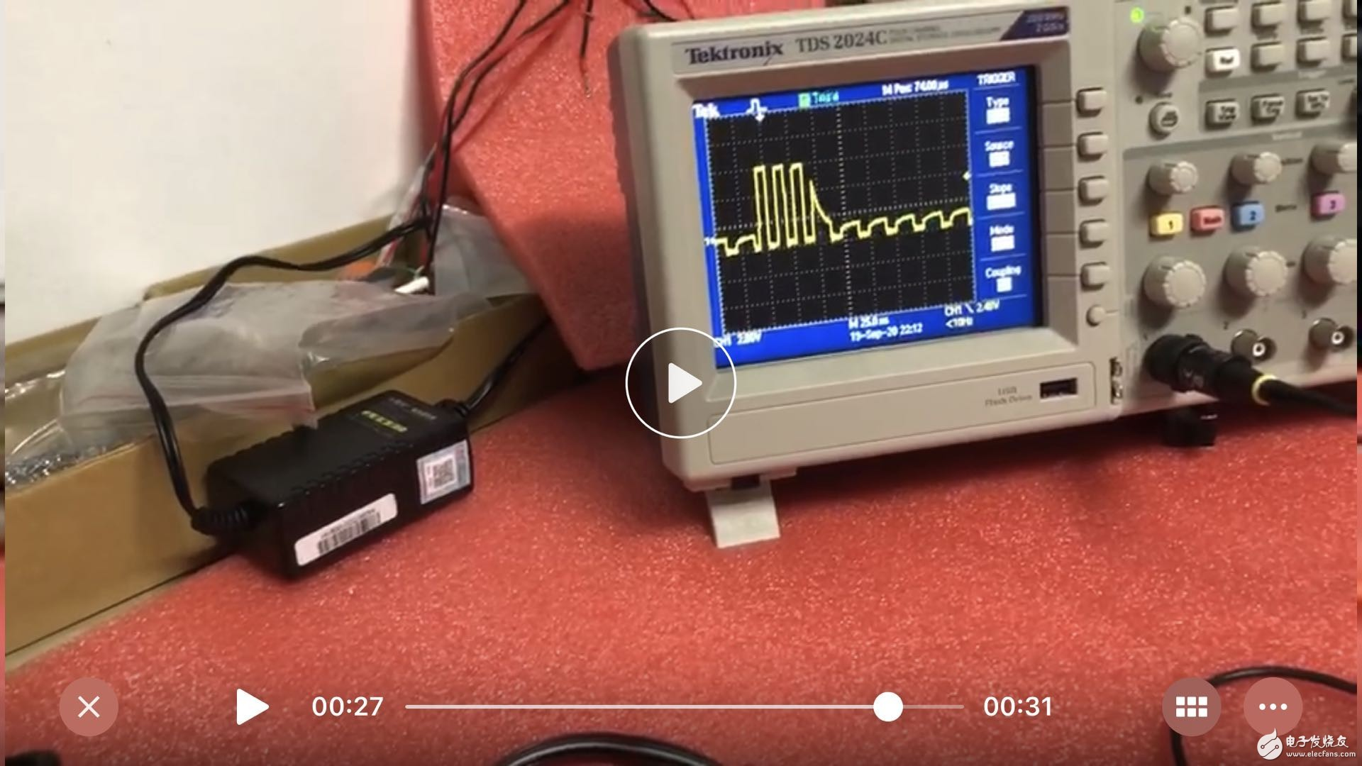 STM32 接 MAX3221  完成RS232通信  ,自环没问题但是接了usb转232线缆 波形就变差了