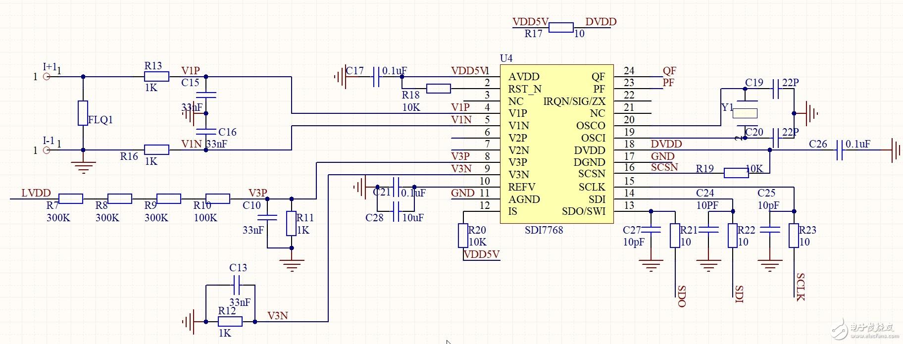 基于SDI7768的高精度计量插座方案