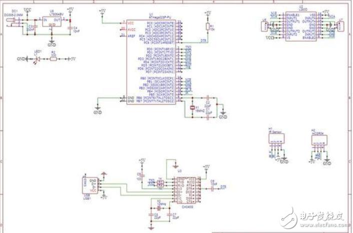 避障機器人電路設計方案(原理圖+PCB+源碼)