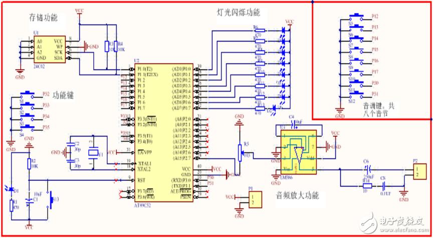 电子琴DIY设计(原理图+PCB+源码+仿真)