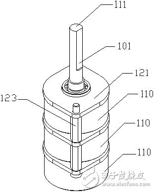 超声电机—多定子电机串联结构应用