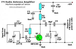 求一份车载FM/AM天线接收放大电路图
