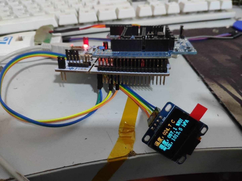 【大聯大友尚 ST MEMS sensor開發板試用體驗】+OLED顯示環境參數