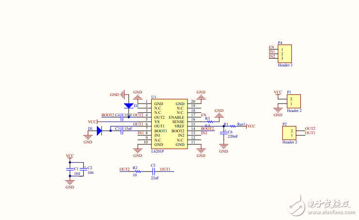 直流电机驱动模块原理图资料