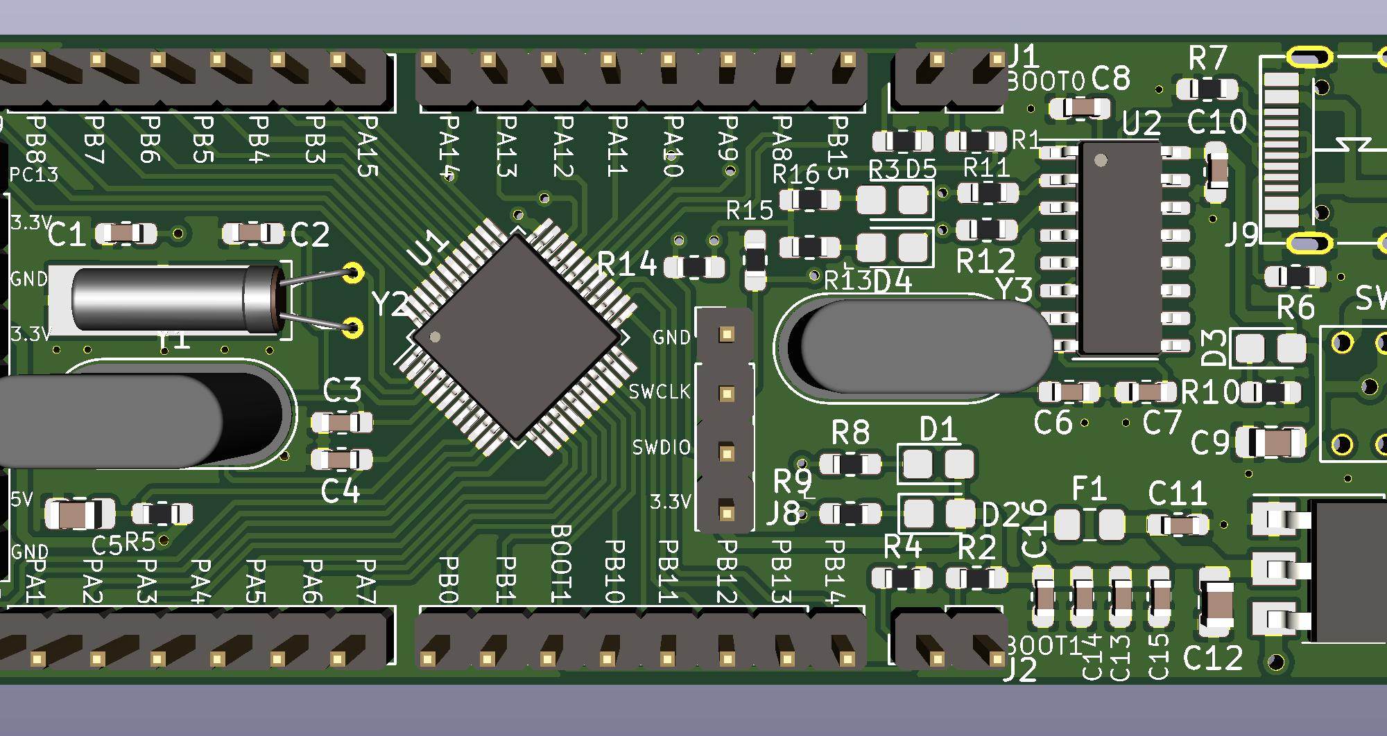 STM32F103C8T6最小系统
