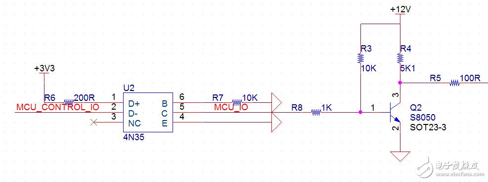 光耦4N35加三极管使用问题