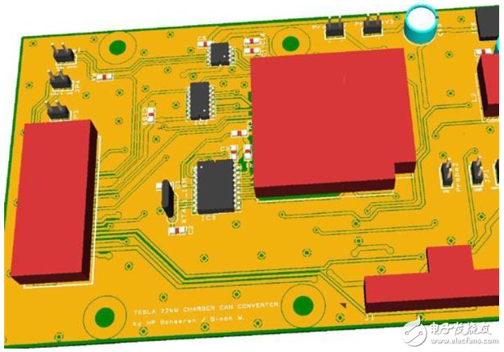 具有ESP32-mini的充电器CAN转换器逻辑板