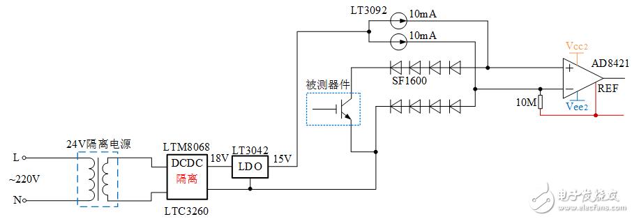 LT3092電流源芯片的輸出紋波很大,帶電路和測試波形。設計10mA輸出,紋波幅值達1mA!請指教,謝謝!