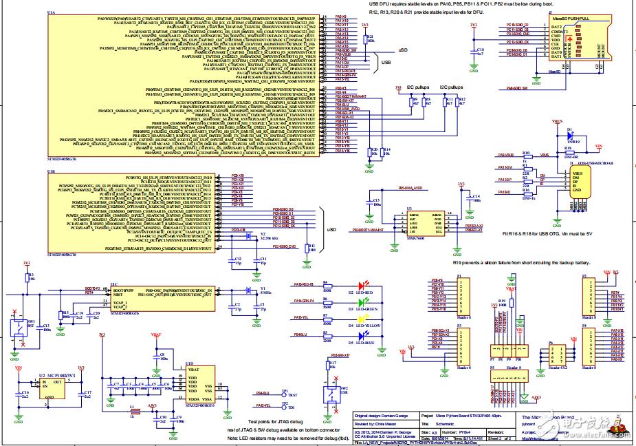開源microPython開發板設計方案