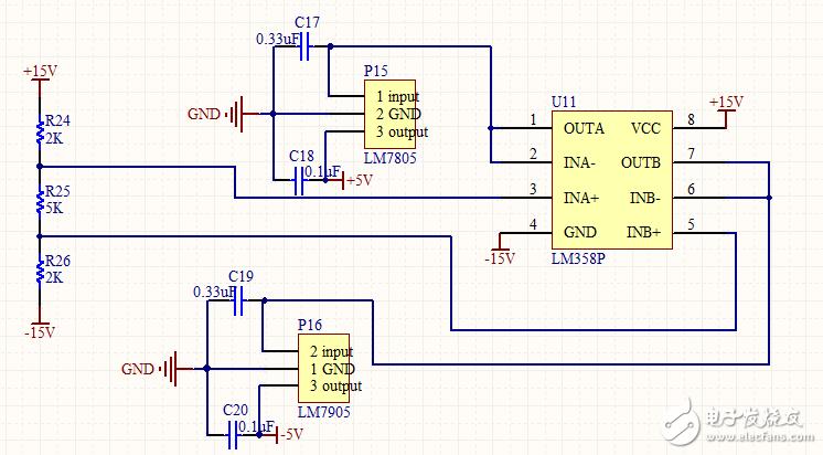 求教 LM7805和LM7905的使用方法