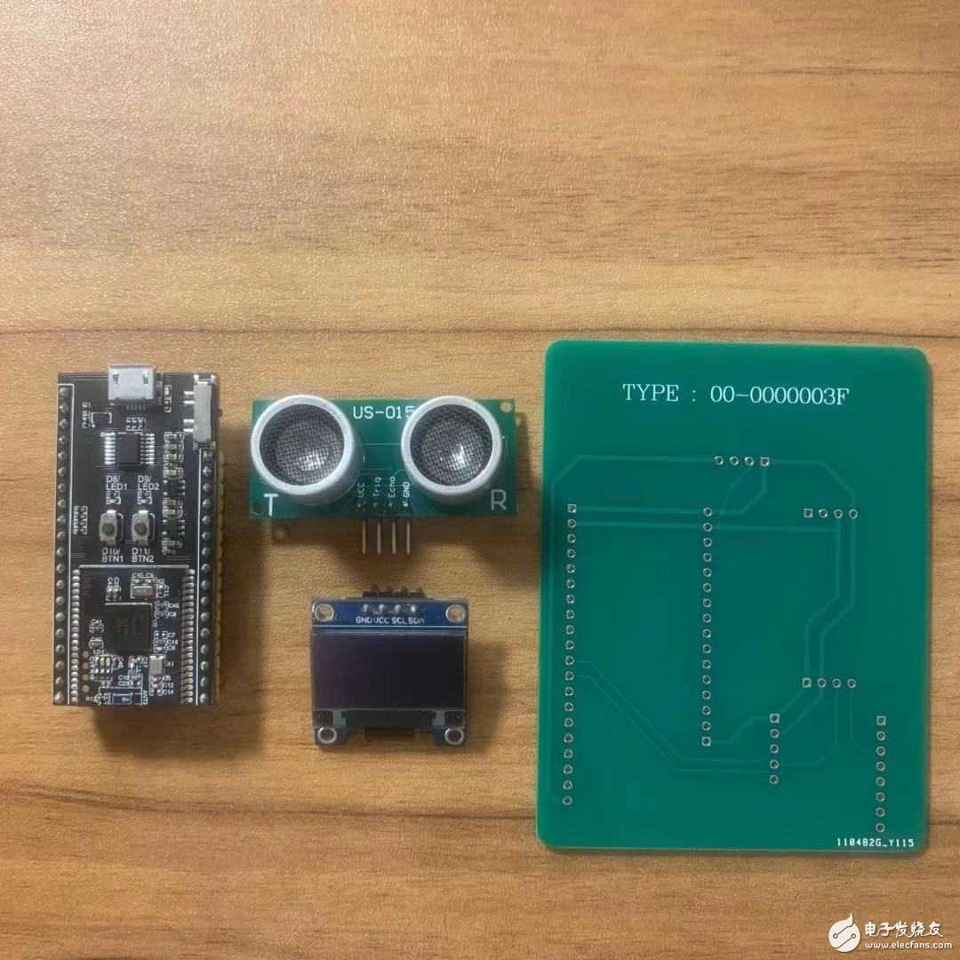 用七行代码实现一个超声波测距仪(Oled屏显示)