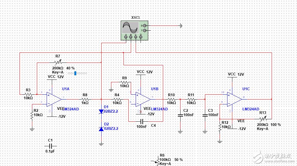 为什么我用示波器无法显现出波形 电路设计有问题吗?
