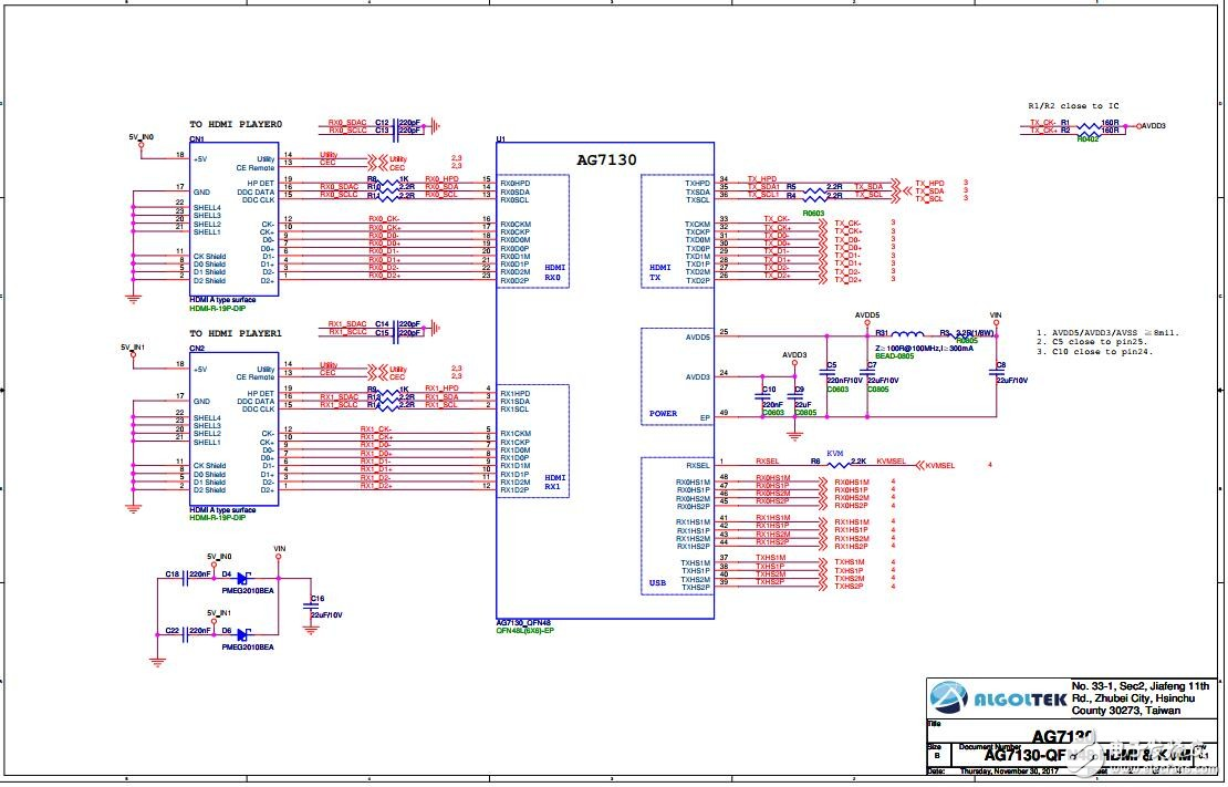 AG7130最新规格书|AG7130设计资料|HDMI 1.4 KVM控制器方案数据手册