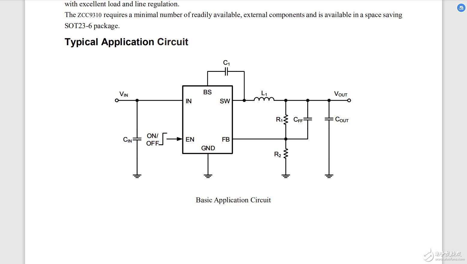 Zcc9310数据手册 30v耐压/1.2A电流压差小替代ME3116
