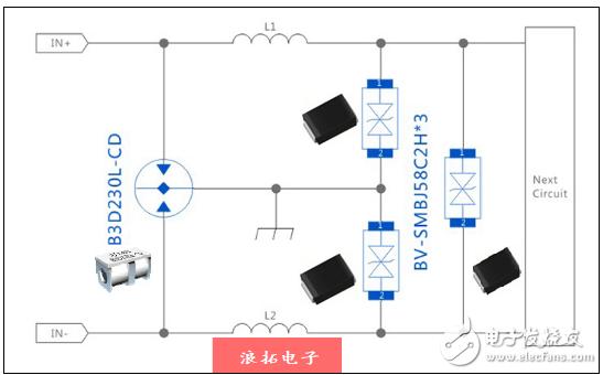 AC24V電源系統浪涌電壓防護電路